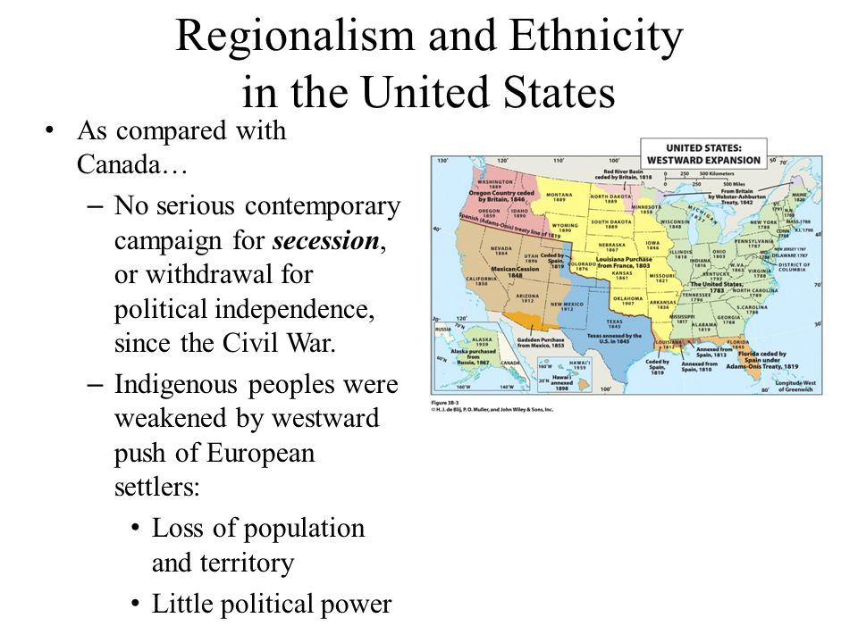 Regionalism and Ethnicity in the United States