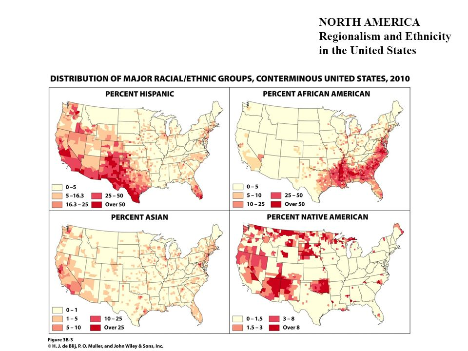NORTH AMERICA Regionalism and Ethnicity in the United States