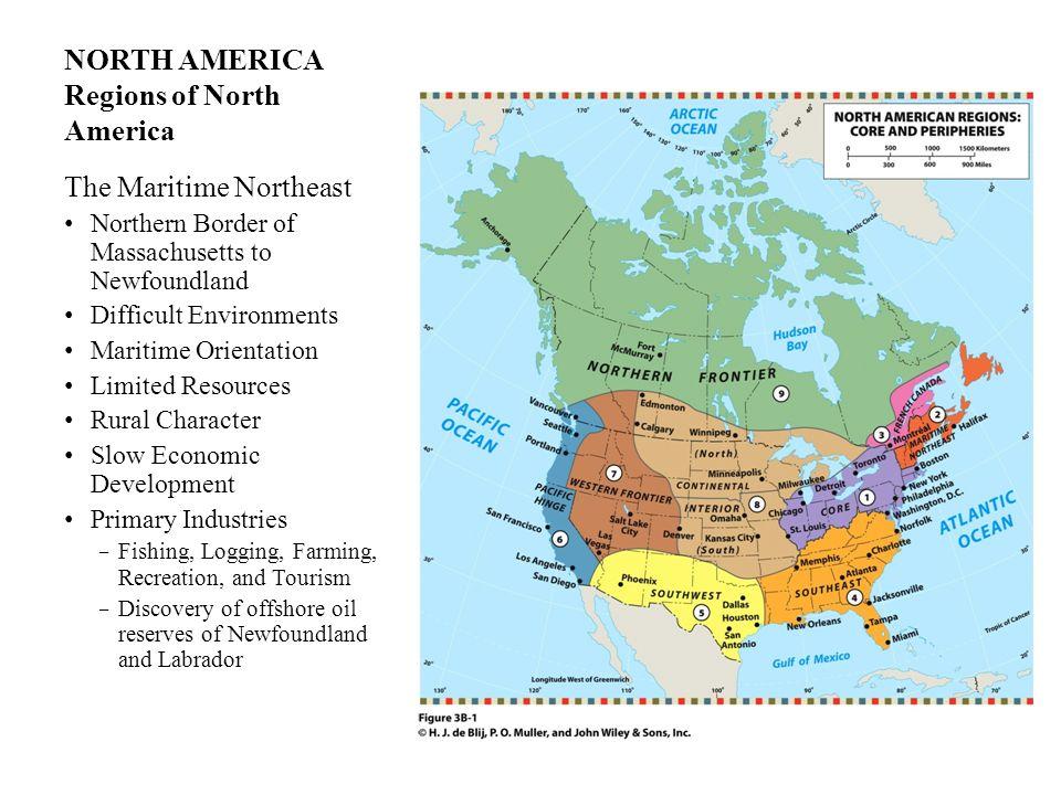 NORTH AMERICA Regions of North America