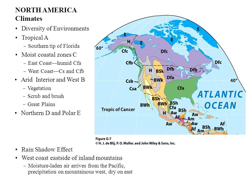 NORTH AMERICA Climates