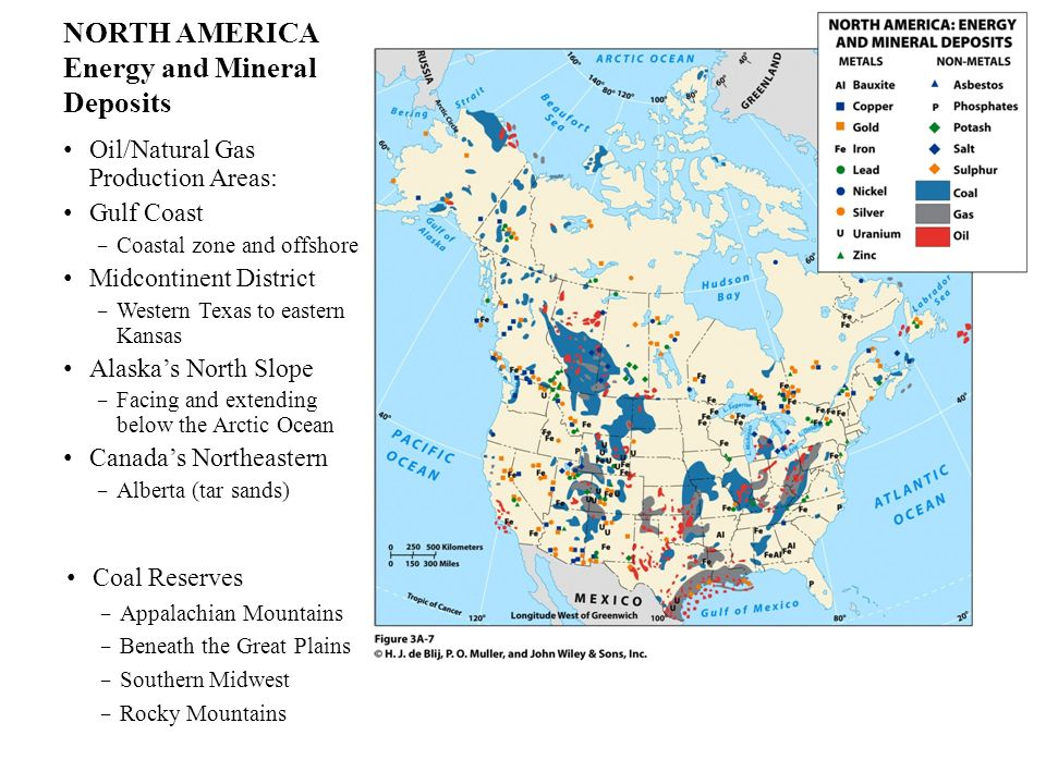 NORTH AMERICA Energy and Mineral Deposits