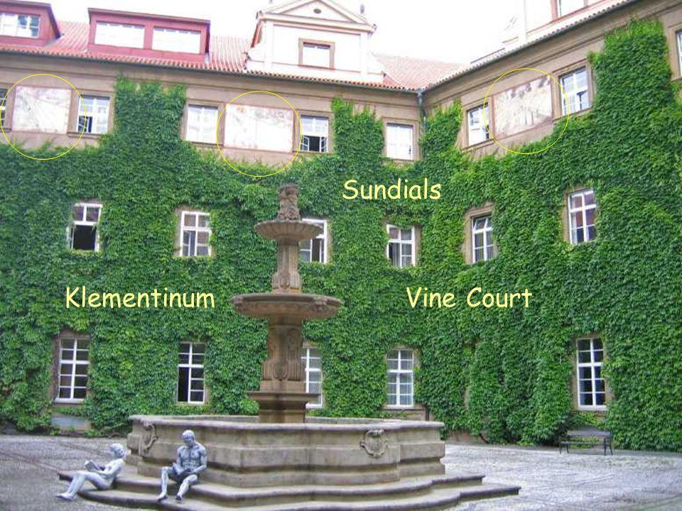 Vine Court Sundials Klementinum Vine Court