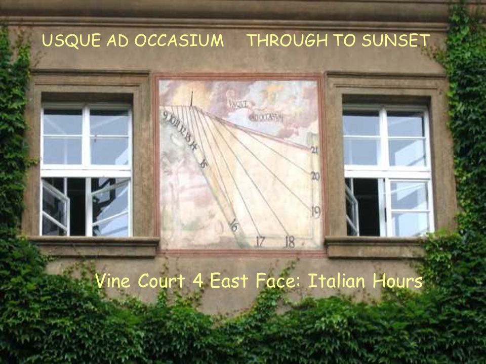 VC4E Italian Vine Court 4 East Face: Italian Hours