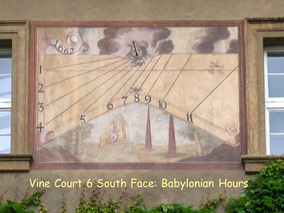 VC S 6 Babylonian Vine Court 6 South Face: Babylonian Hours