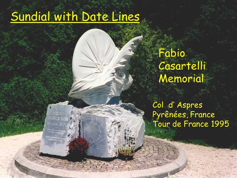 Caesartelli Sundial with Date Lines Fabio Casartelli Memorial