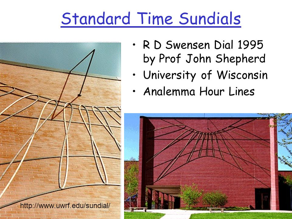 Standard Time Sundials