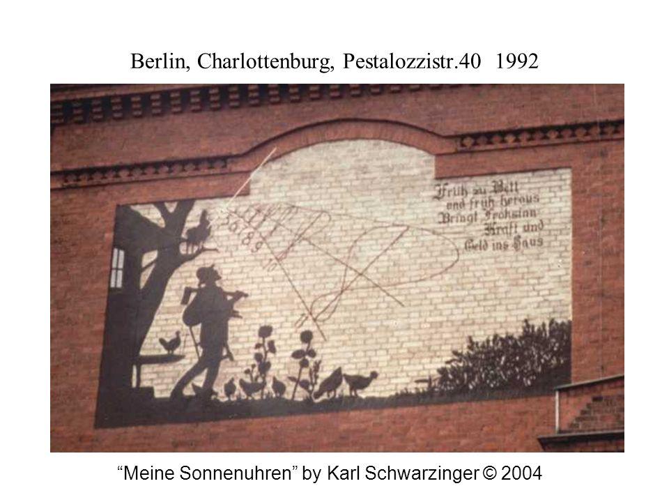 Berlin, Charlottenburg, Pestalozzistr.40 1992