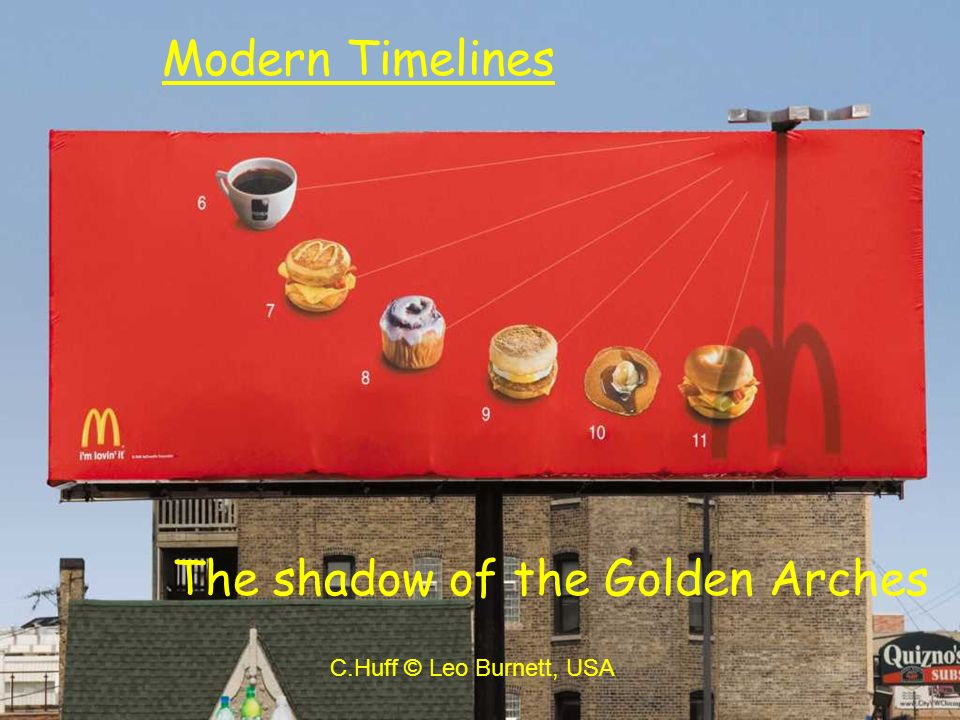 The shadow of the Golden Arches
