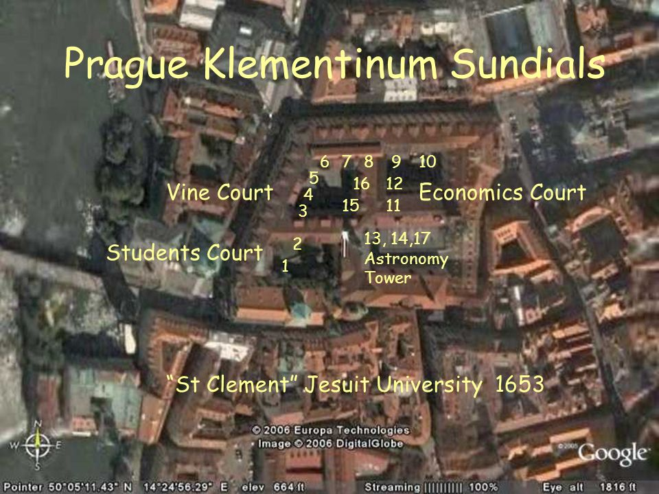 Prague Klementinum Sundials