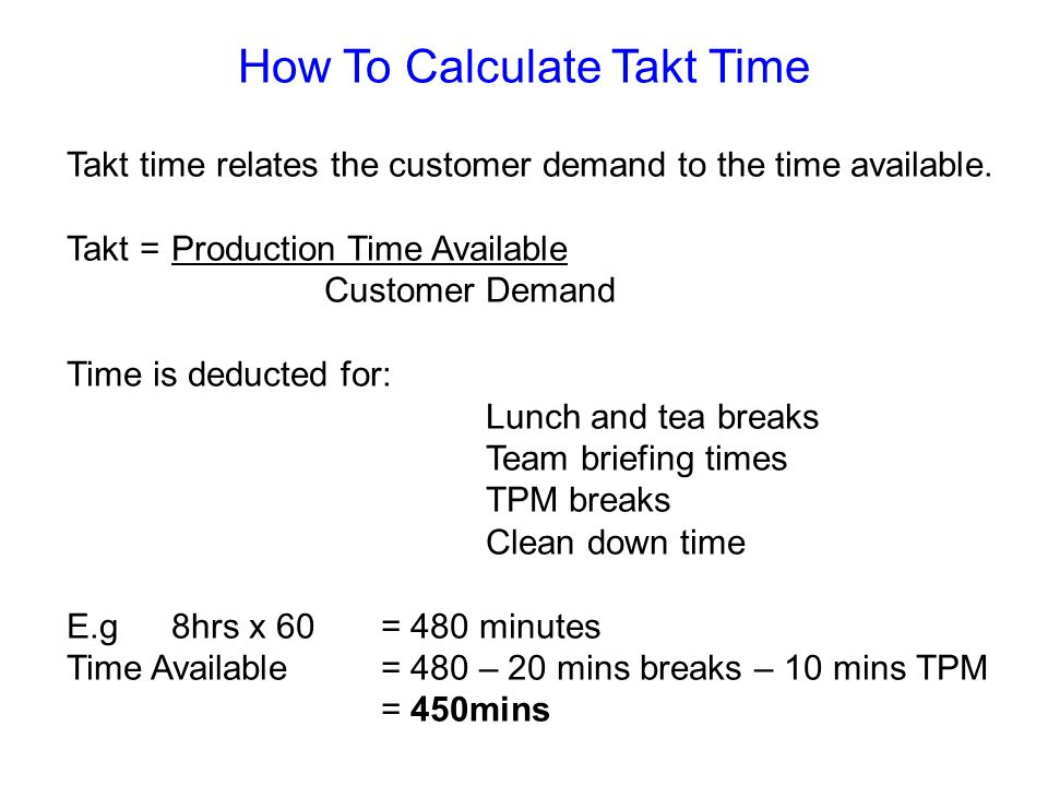 How To Calculate Takt Time