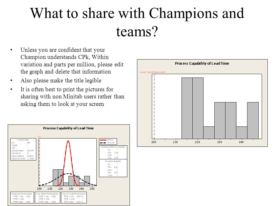 What to share with Champions and teams