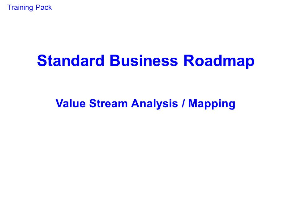Standard Business Roadmap