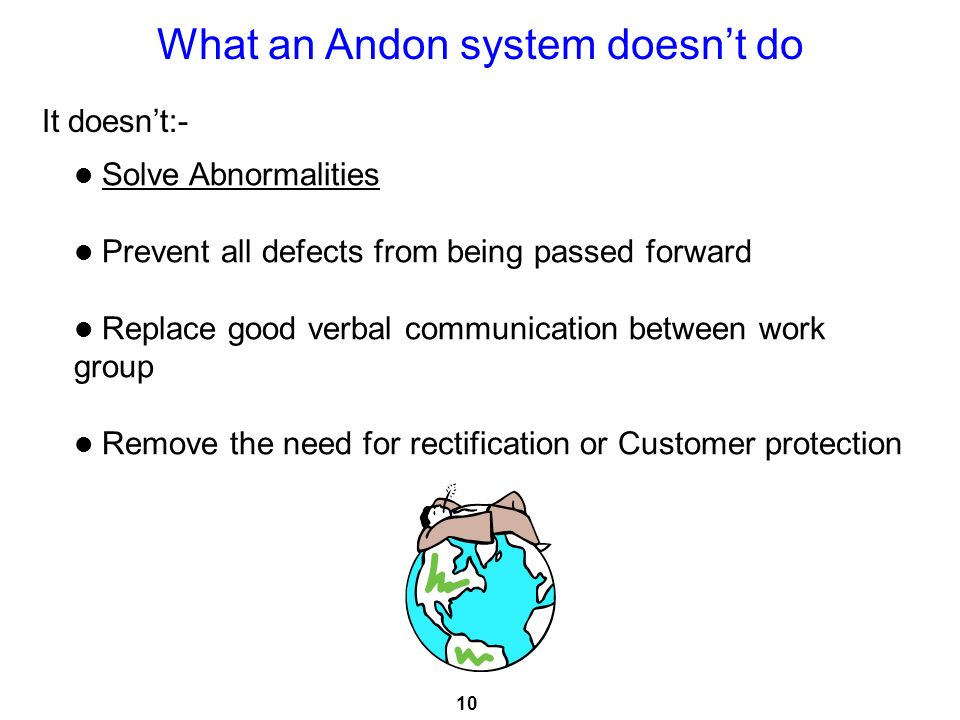 What an Andon system doesn't do