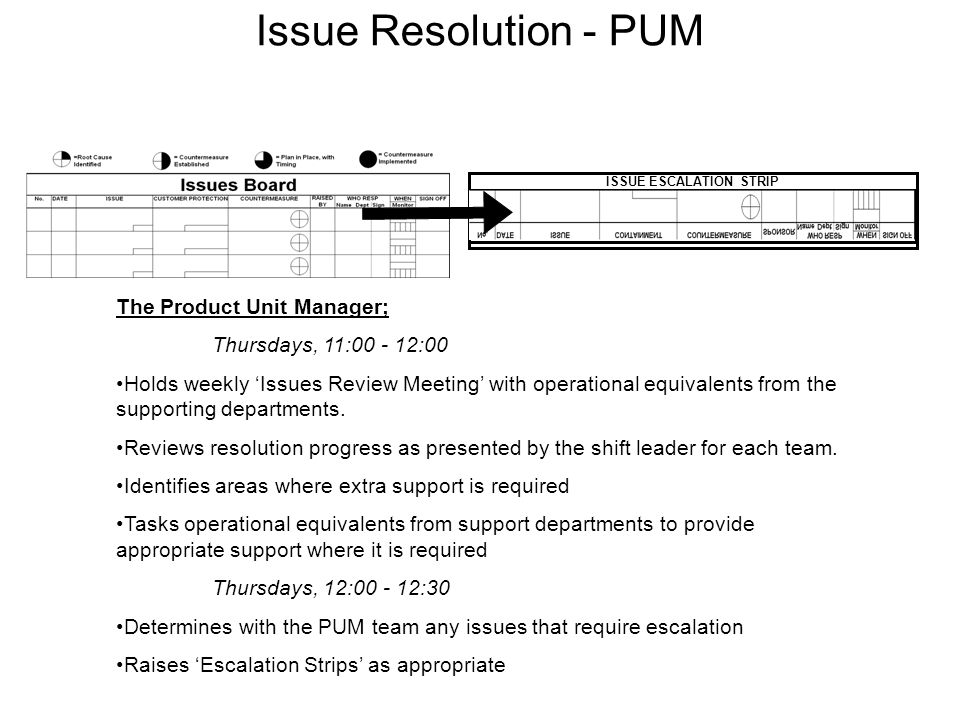 ISSUE ESCALATION STRIP