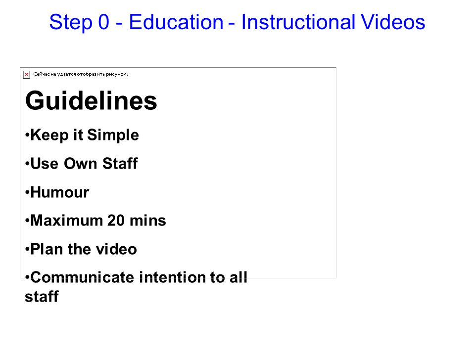 Step 0 - Education - Instructional Videos