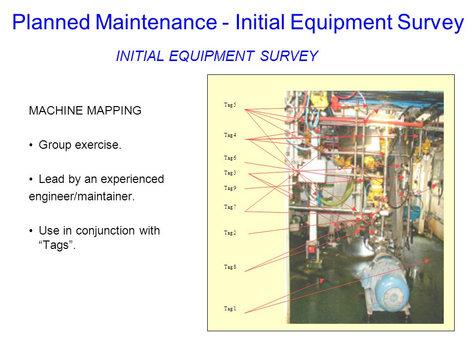 Planned Maintenance - Initial Equipment Survey