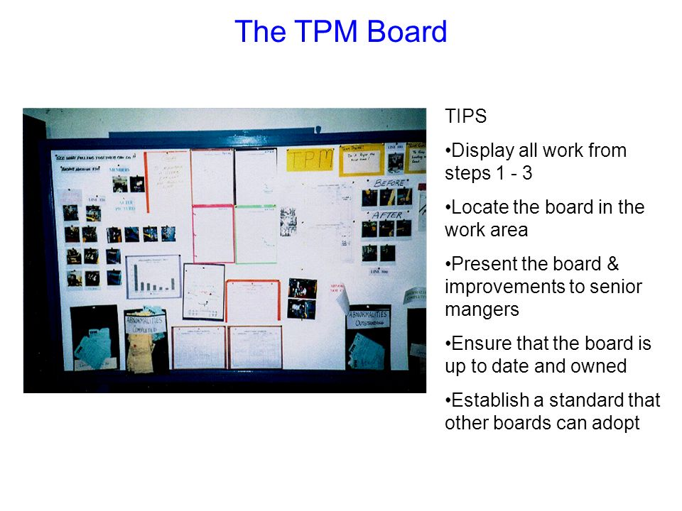 The TPM Board TIPS Display all work from steps 1 - 3