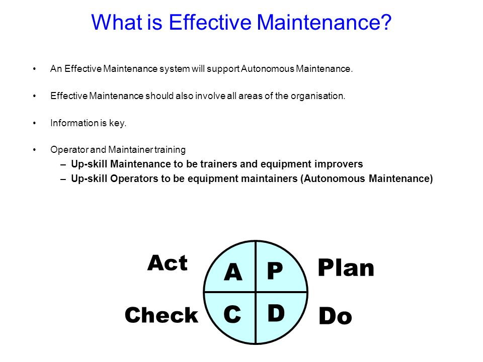 What is Effective Maintenance