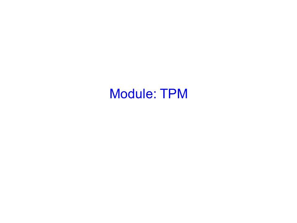 Module: TPM Slide Verbal Photo Explain the key objectives:-