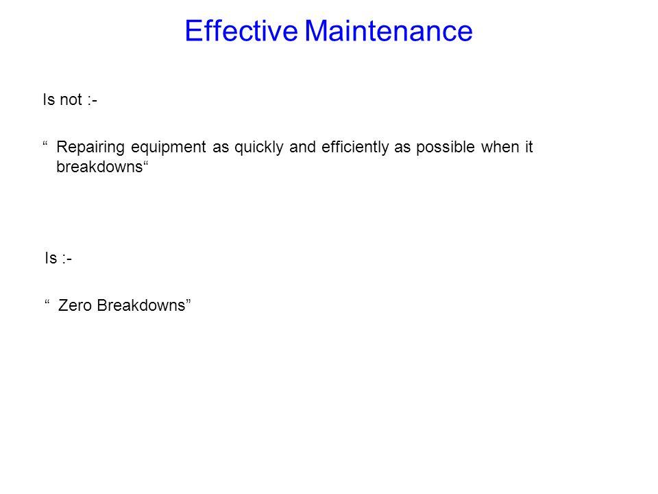 Effective Maintenance
