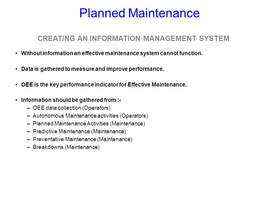 CREATING AN INFORMATION MANAGEMENT SYSTEM