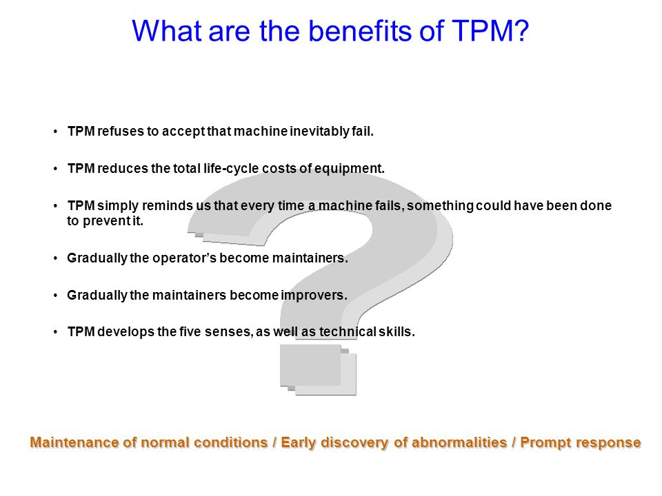 What are the benefits of TPM