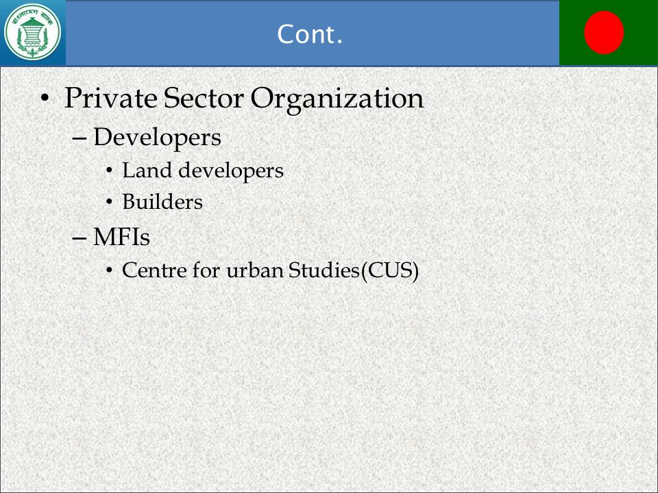 Private Sector Organization