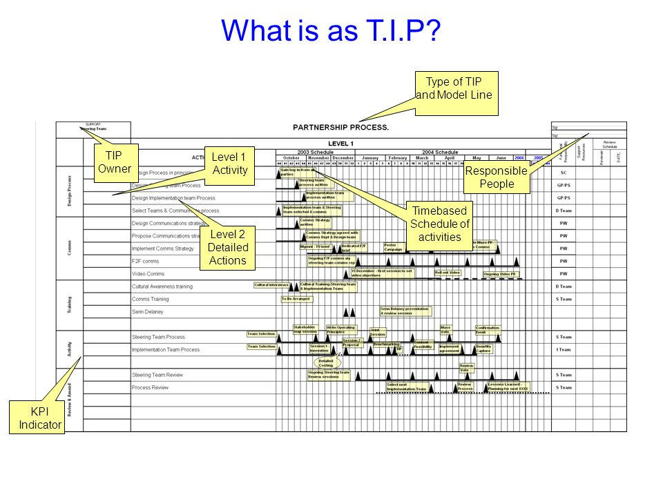 What is as T.I.P Slide Verbal Flip Chart Training Matl. Photo