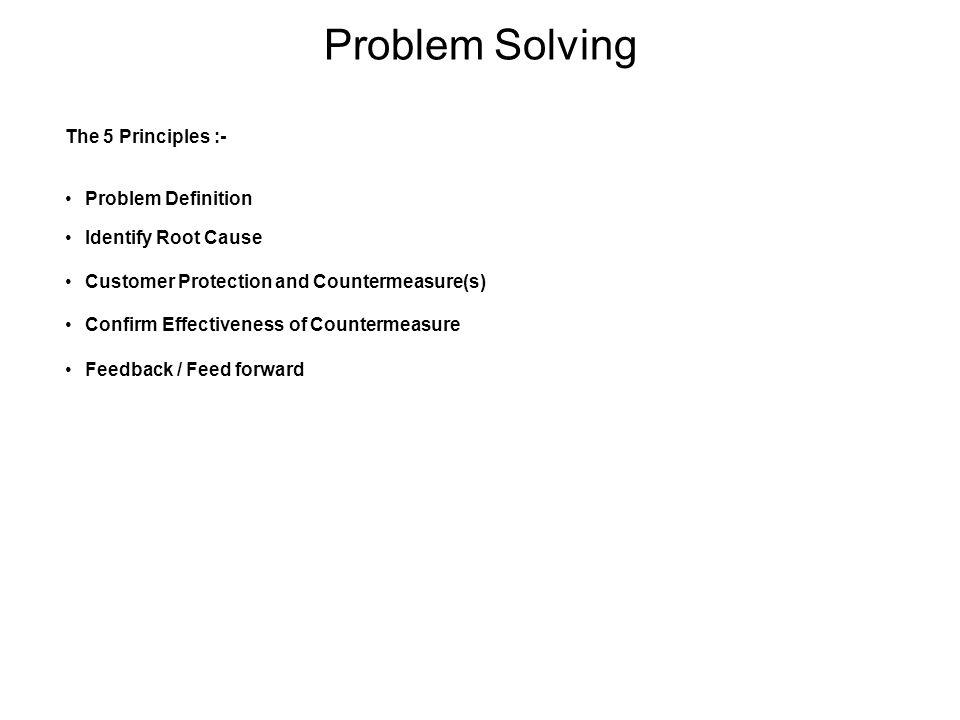 Problem Solving The 5 Principles :- Problem Definition