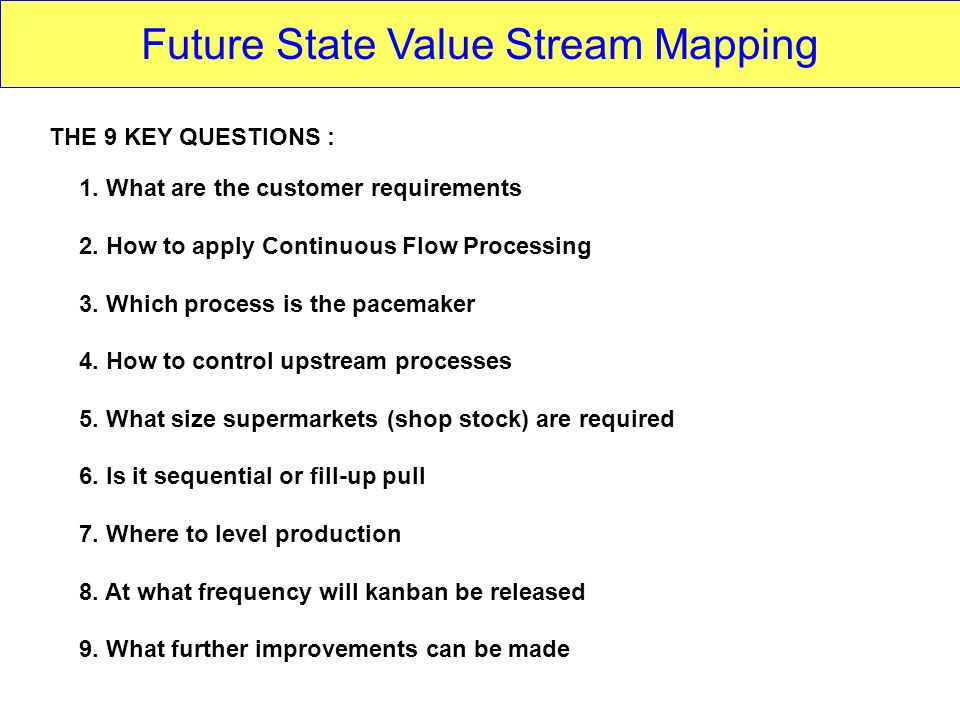 Future State Value Stream Mapping