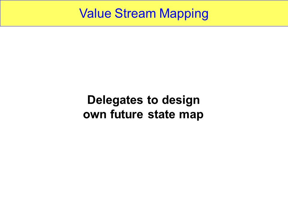 Value Stream Mapping Delegates to design own future state map