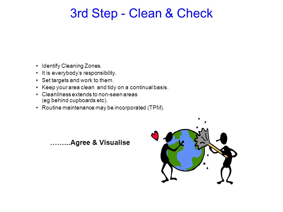 3rd Step - Clean & Check ……...Agree & Visualise