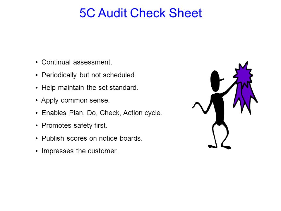 5C Audit Check Sheet Continual assessment.
