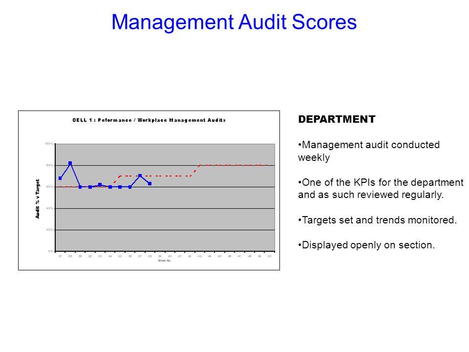 Management Audit Scores