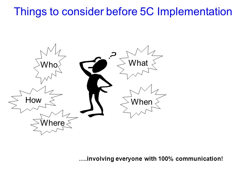 Things to consider before 5C Implementation