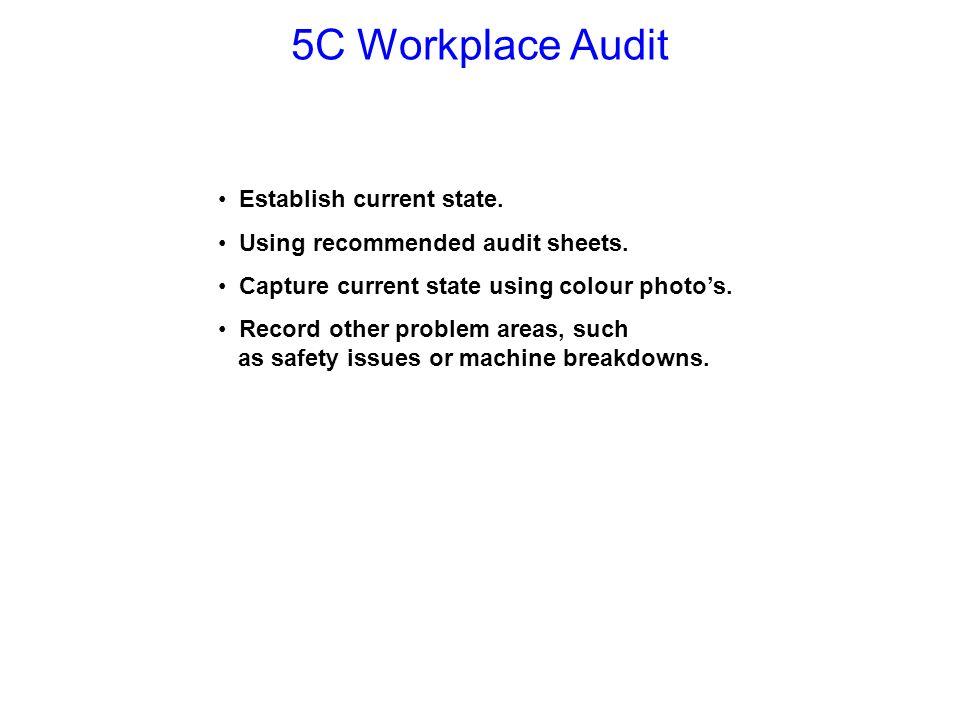 5C Workplace Audit Establish current state.