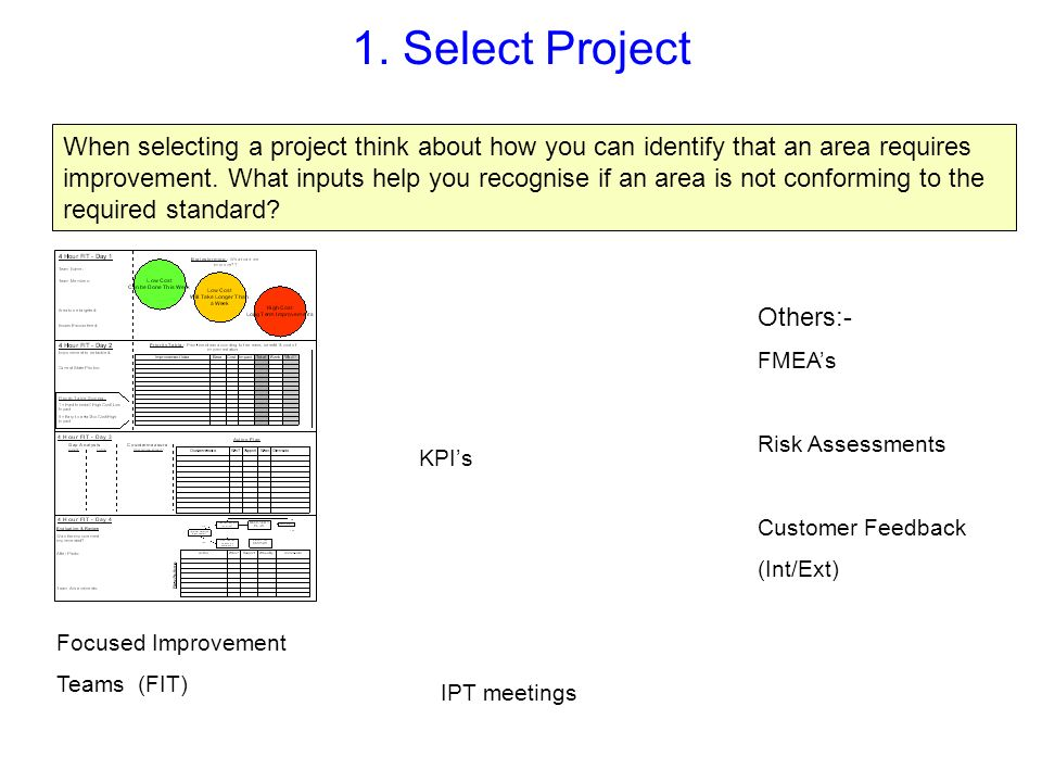 1. Select Project