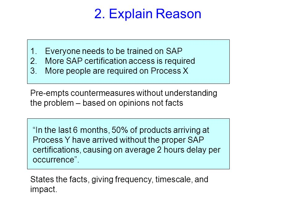 2. Explain Reason Everyone needs to be trained on SAP