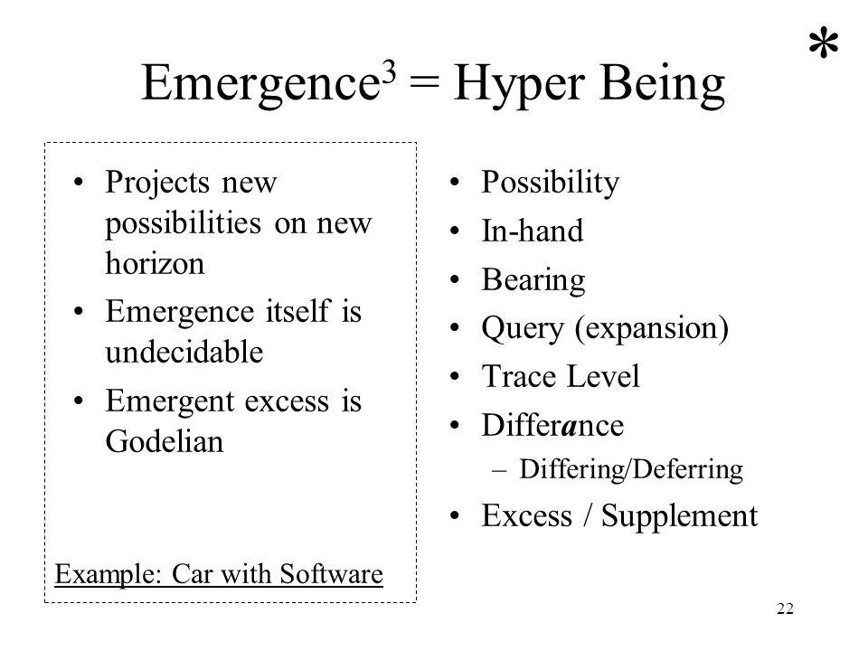 Emergence3 = Hyper Being