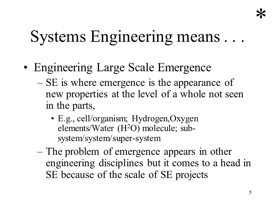 Systems Engineering means . . .
