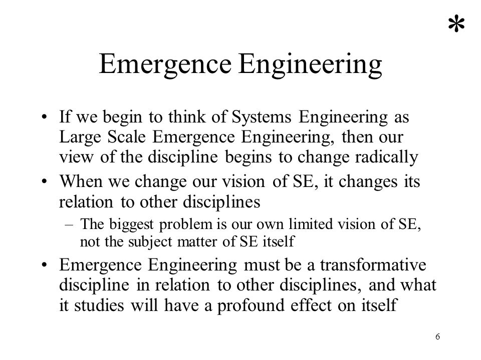 Emergence Engineering