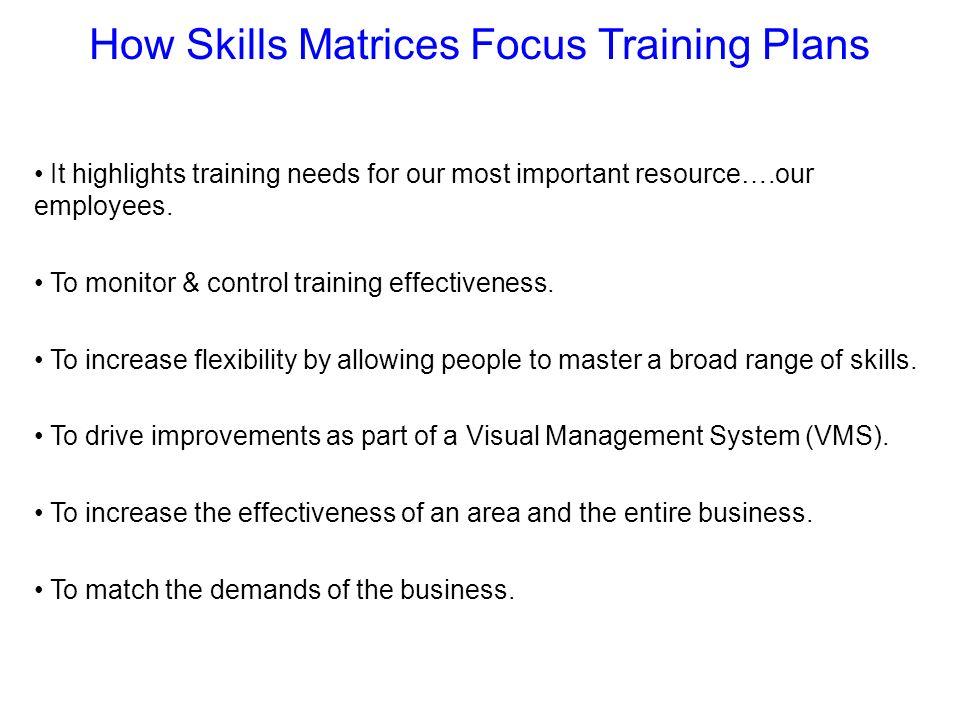 How Skills Matrices Focus Training Plans