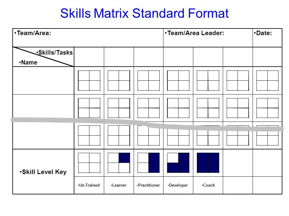 Skills Matrix Standard Format