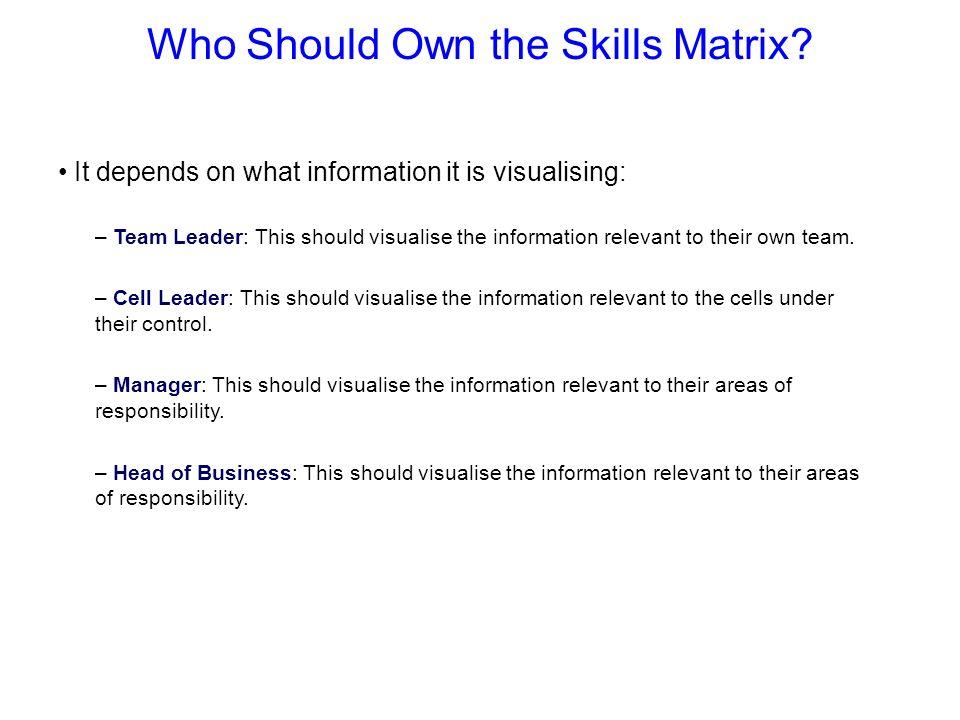 Who Should Own the Skills Matrix