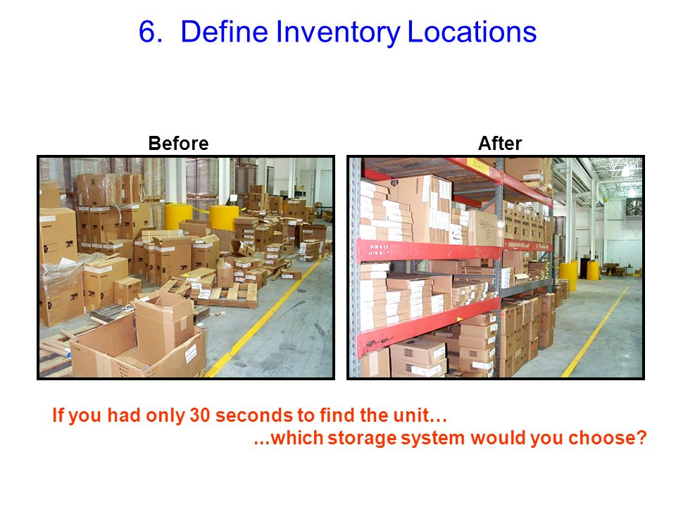 6. Define Inventory Locations