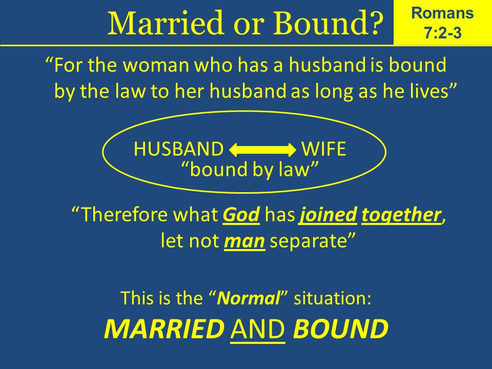 Married or Bound MARRIED AND BOUND