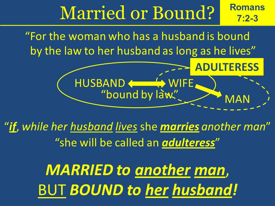 Married or Bound MARRIED to another man, BUT BOUND to her husband!