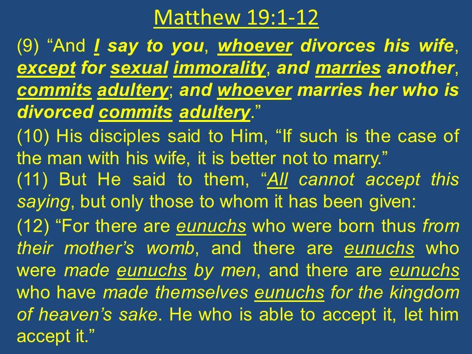 Matthew 19:1-12