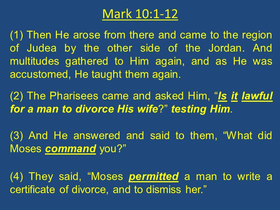 Mark 10:1-12