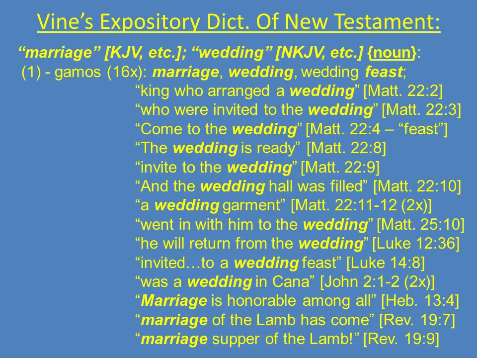 Vine's Expository Dict. Of New Testament: